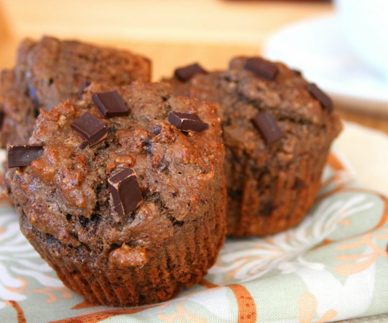 Diät Abendessen leckere low carb Muffins mit Schokolade