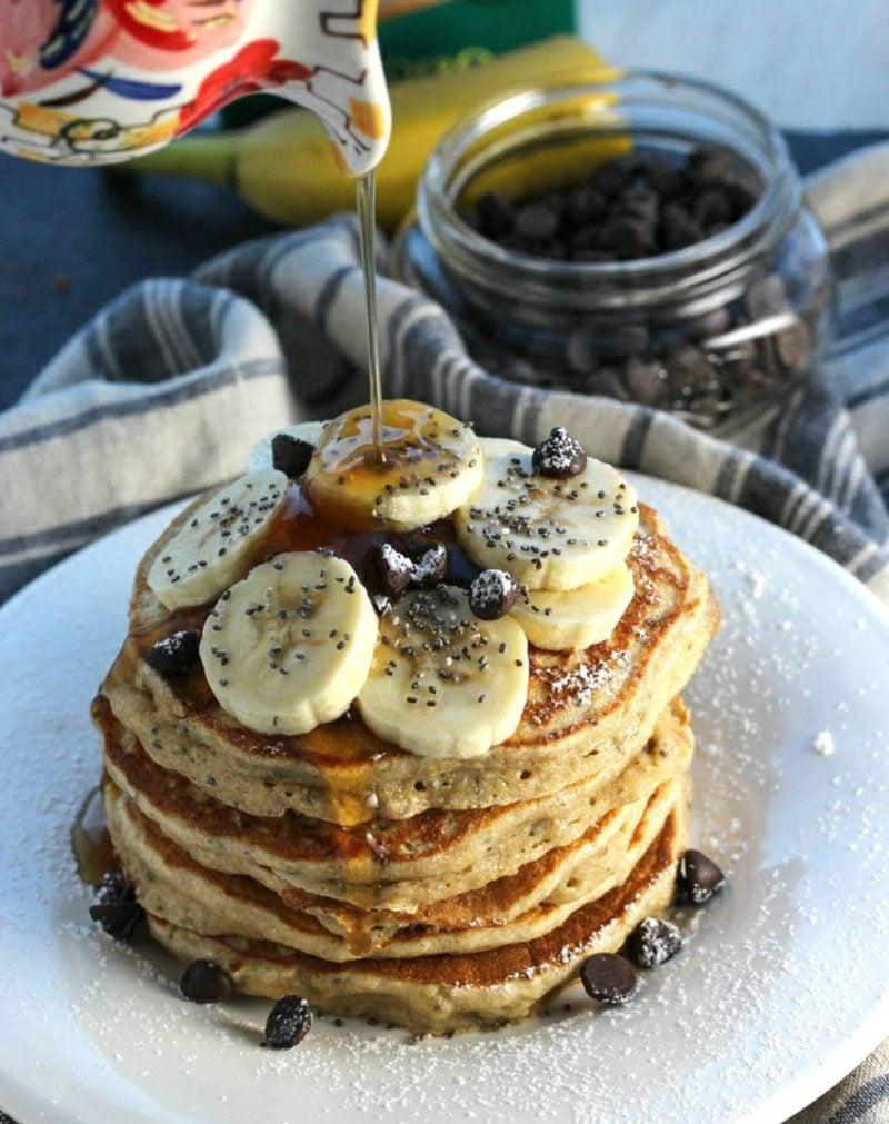 Bananen Pancakes ohne Ei Rezept