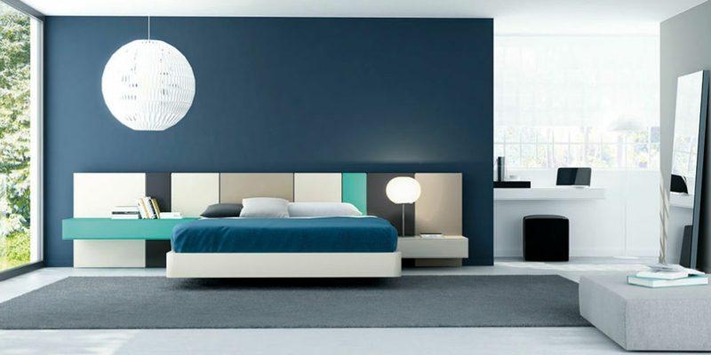 Queensize Bett Größe Vorteile modernes Schlafzimmer