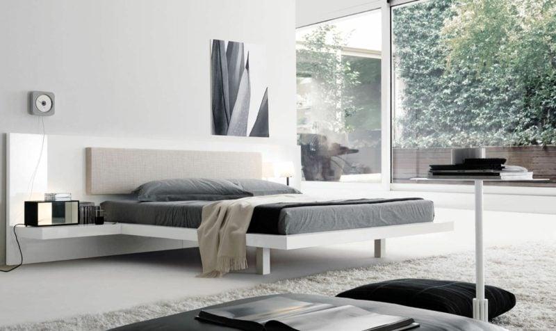 Queen Bett Größe modernes Schlafzimmer skandinavisch