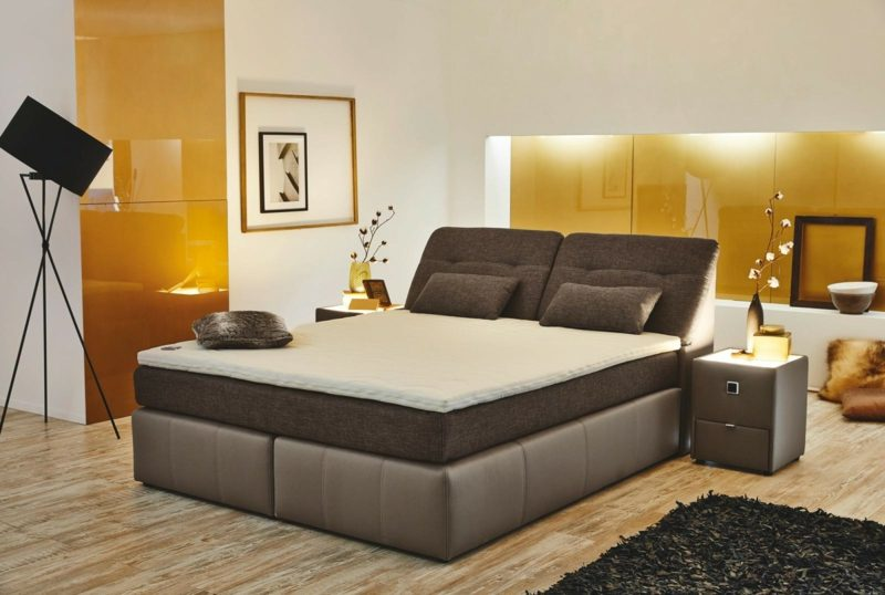 Queensize Bett unterschiedliche Arten Boxspringbett