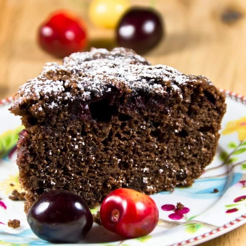 low carb Backen Schoko-Kirsch-Kuchen