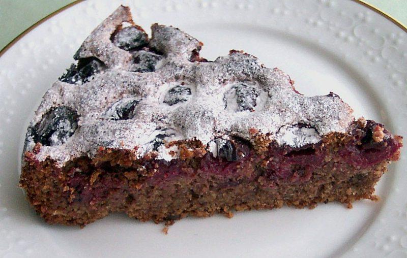 Kuchen mit wenig Zutaten veganer Kirsch-Schoko-Kuchen