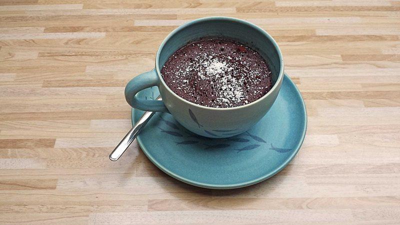 Tassenkuchen vegan Rezept mit Schokolade
