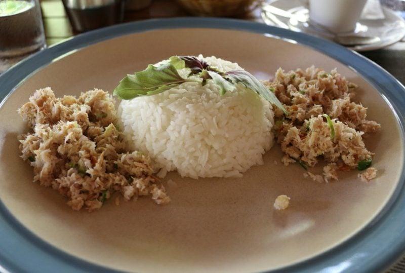 schnelles gesundes Abendessen Thunfisch Beilage Reis