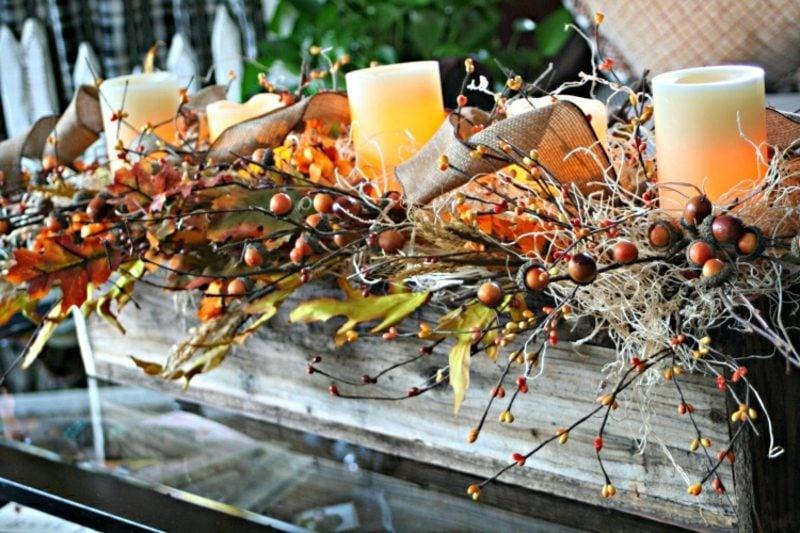 Herbstdeko Tisch herrlicher Look