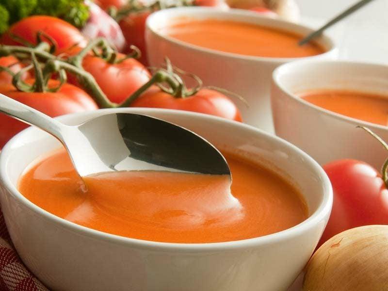 einfaches Abendessen Tomatensuppe cremig