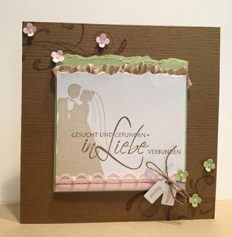 Hochzeitskarte herrlicher Look Liebe gesucht und gefunden