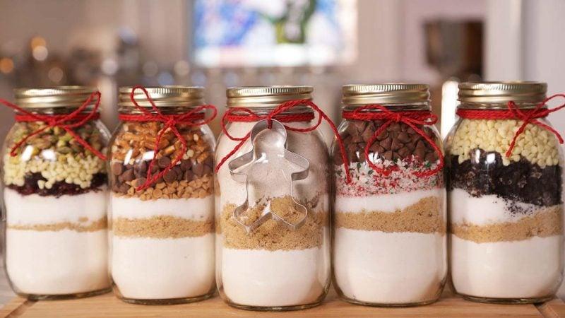 Backmischung im Glas als Geschenk - Geschenkideen zum selber machen