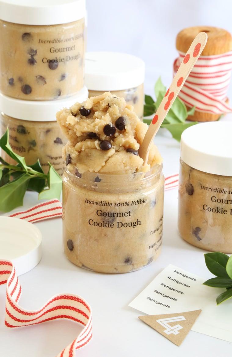 Backmischung im Glas selber machen - Cookies Rezept