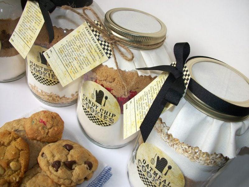 Geschenkideen selbstgemacht - Backmischung Kekse