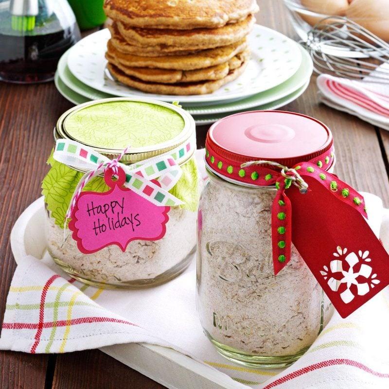 Backmischung im Glas selber machen - Pfannkuchen im Glas