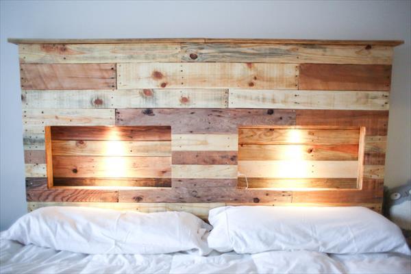 DIY Kopfteil für Bett aus Europaletten