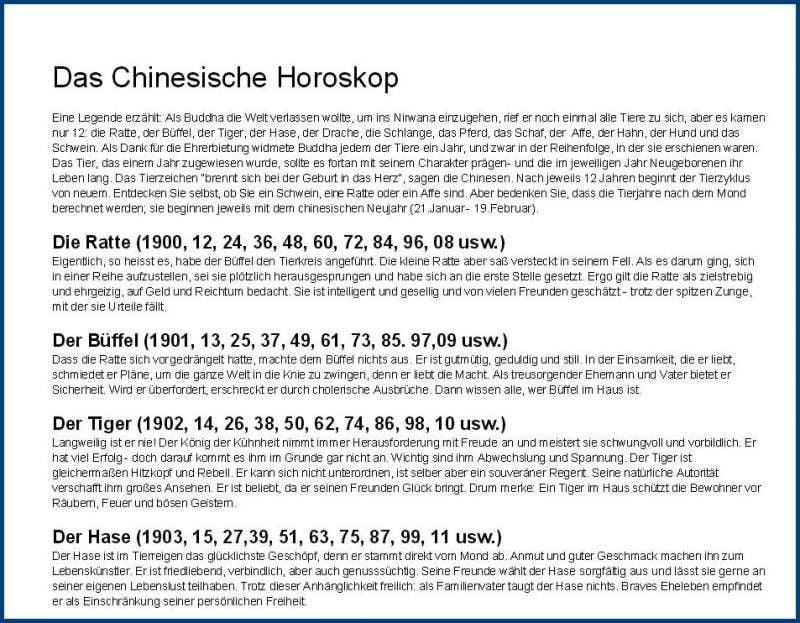 chinesischer kalender chinesische sternzeichen bedeutung