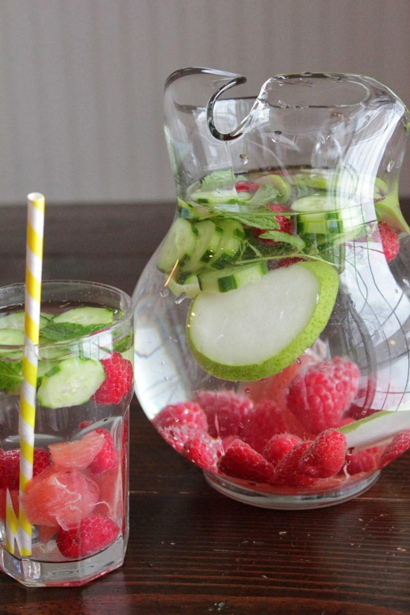 erdbeeren und limetten detox schlankwasser