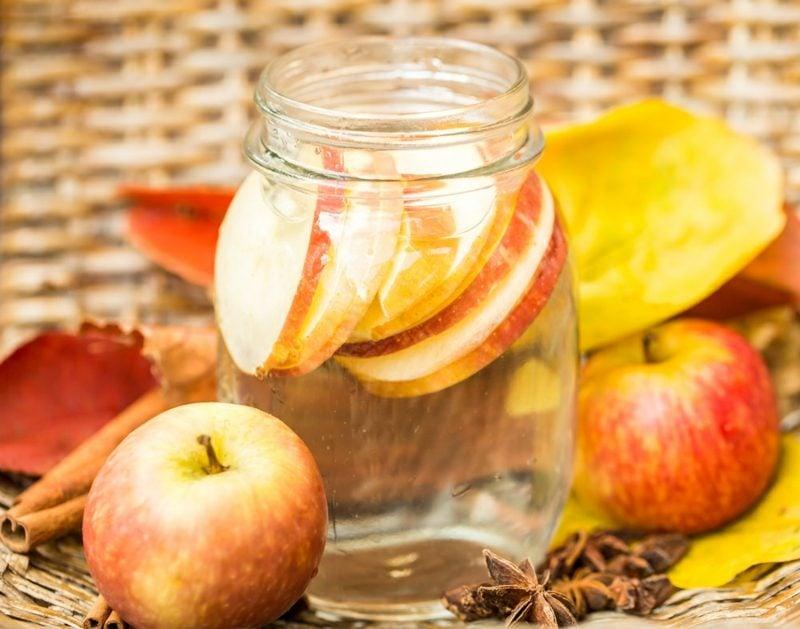 rezept für detox wasser mit apfel und zimt