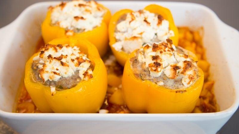 leckeres Essen gefüllte Paprikaschoten