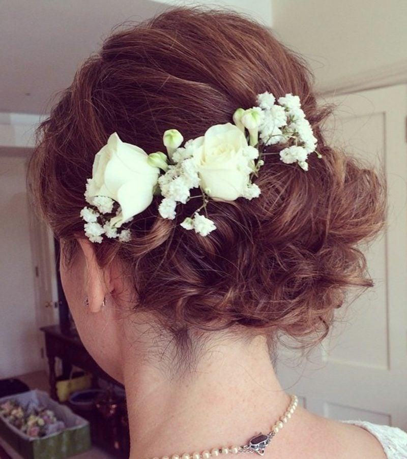 Frisuren halblanges Haar Hochzeit