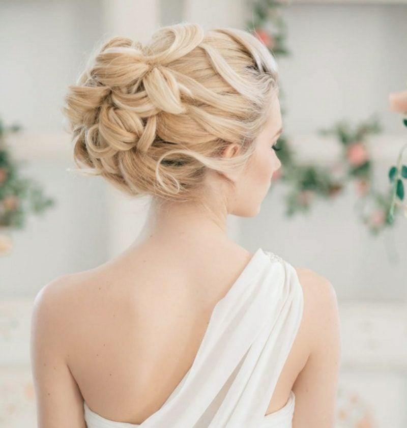 Frisuren für schulterlanges Haar Hochzeit
