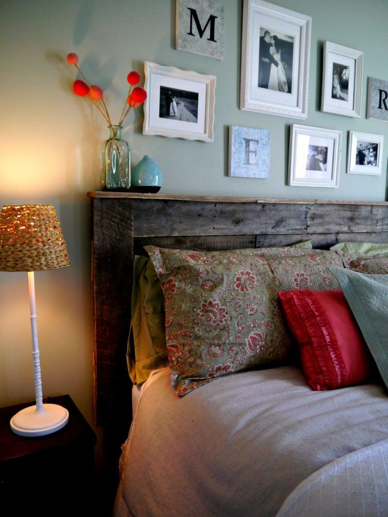 Kopfteil für Bett bauen Ideen und Dekorationen