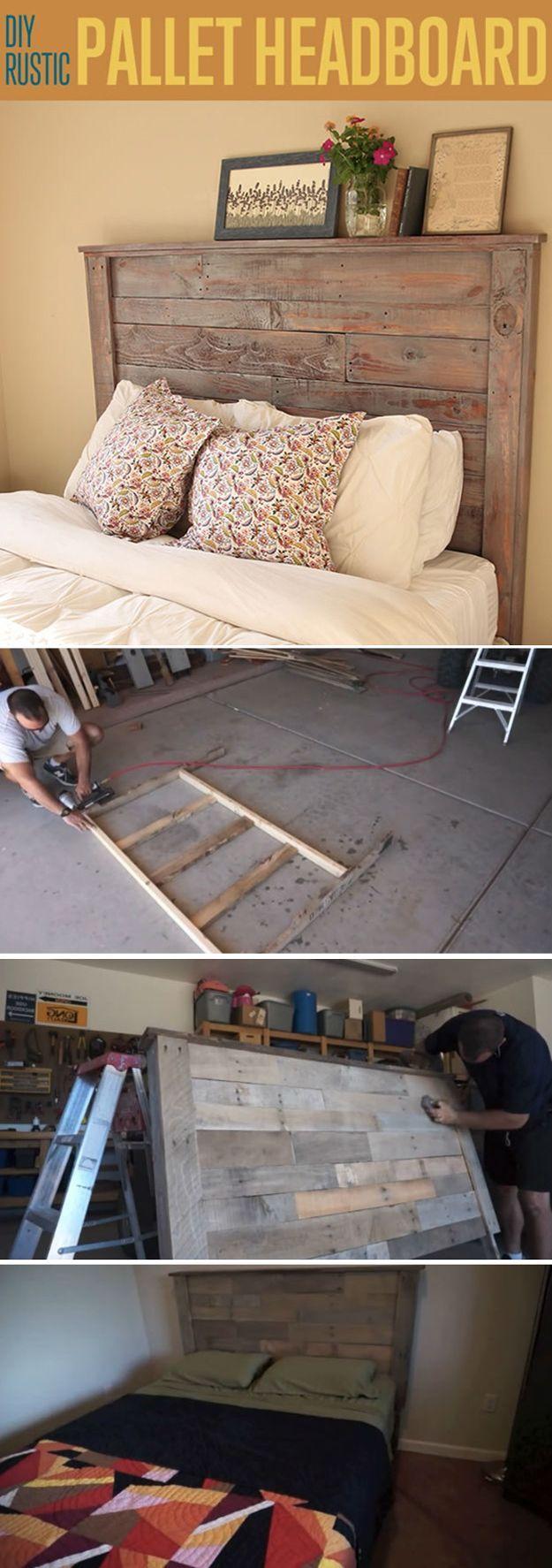 Kopfteil und Bett selber bauen einfach