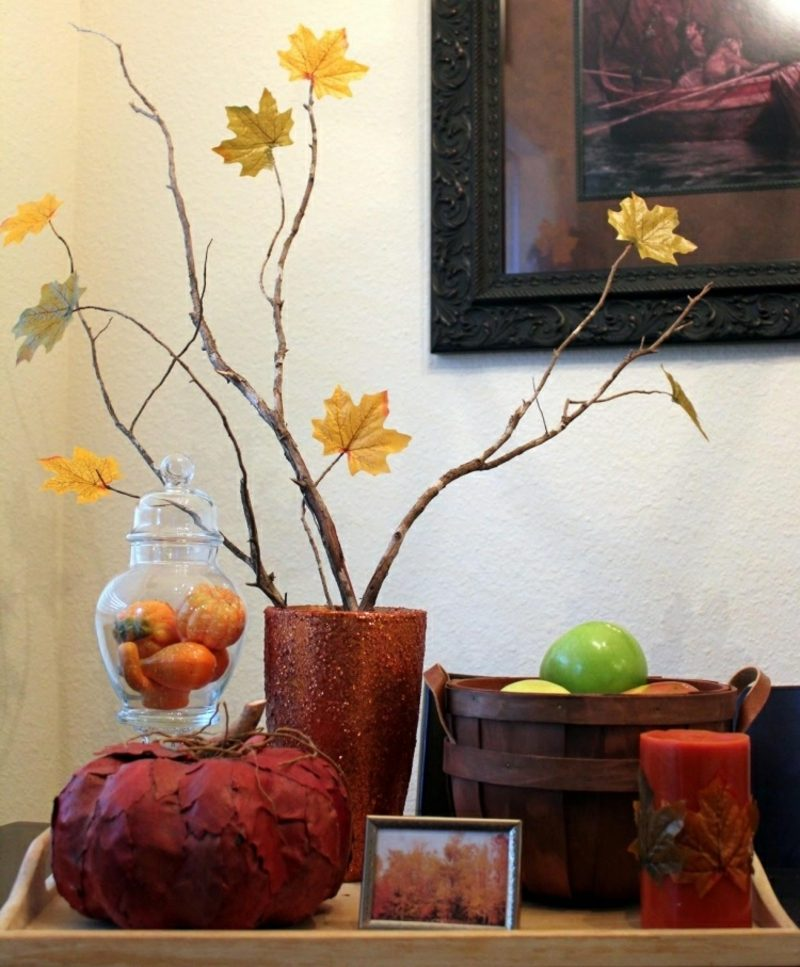 Herbstdeko kreative DIY Ideen