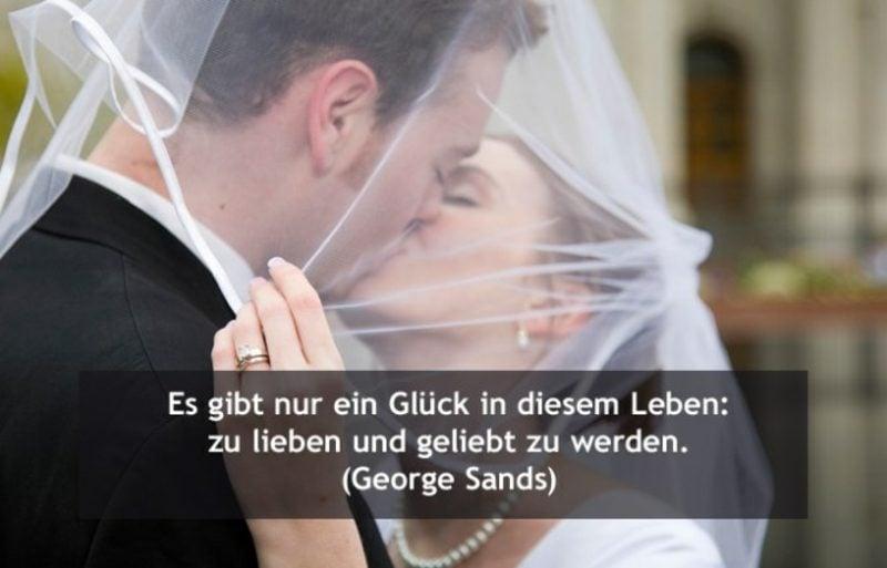 Hochzeitswünsche kurzer Zitat von George Sands