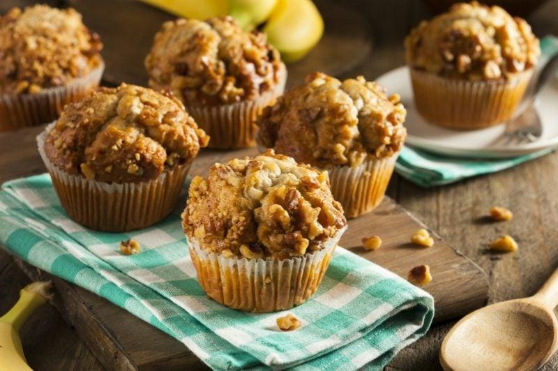 schnelle gesunde Rezepte low carb Muffins mit Mandeln und Joghurt