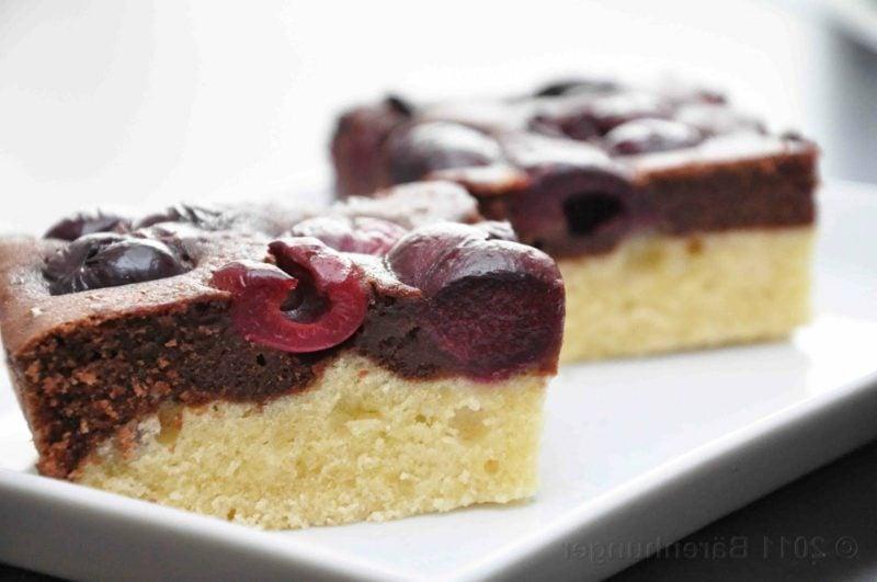 low carb Kuchen Kirschen und Schokolade
