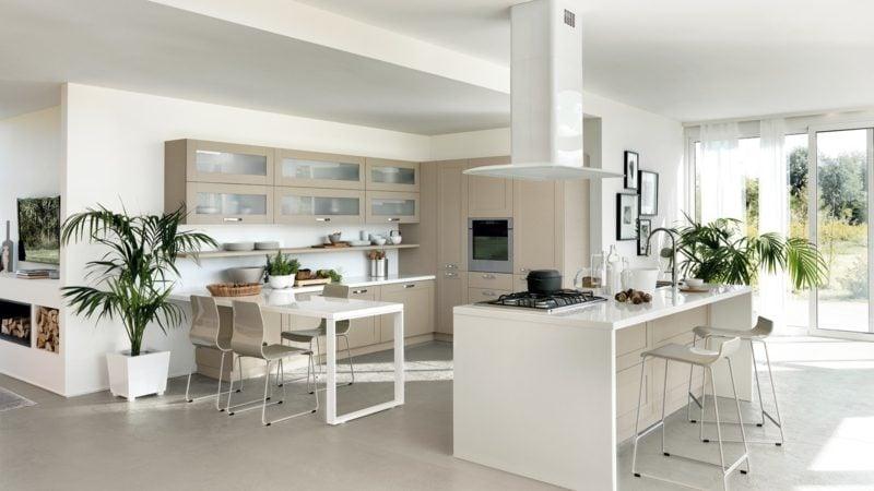 moderne offene küche mit theke