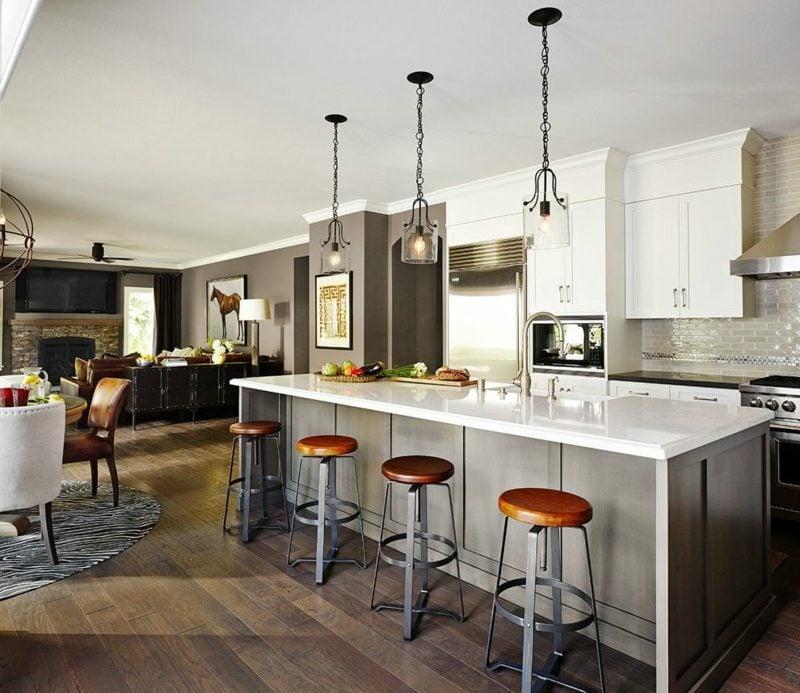 küche mit tresen ideen