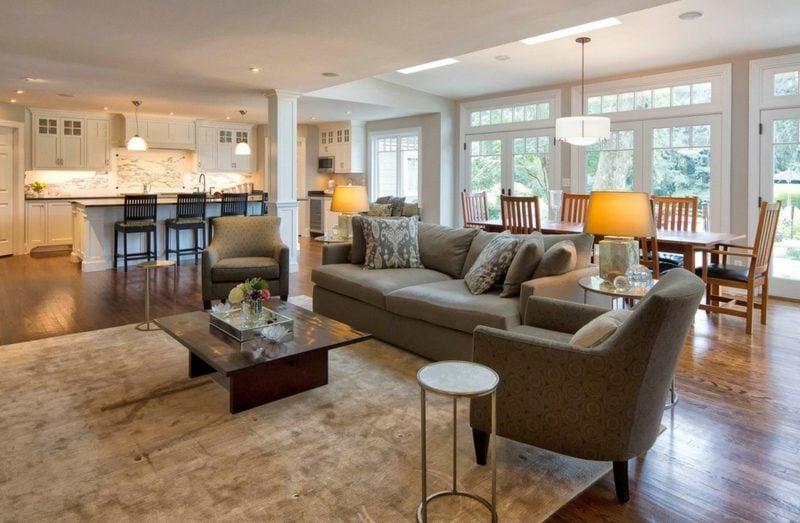 offene küche wohnzimmer küchenplanung