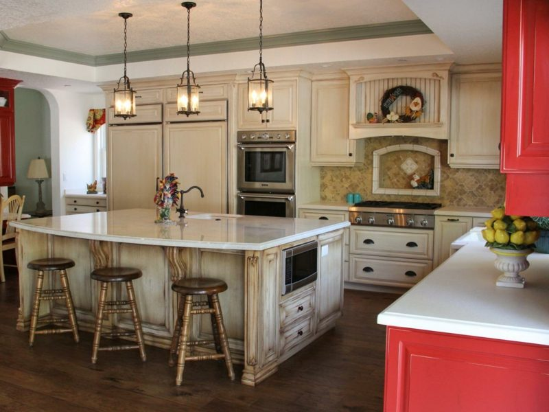 offene küche rustik design