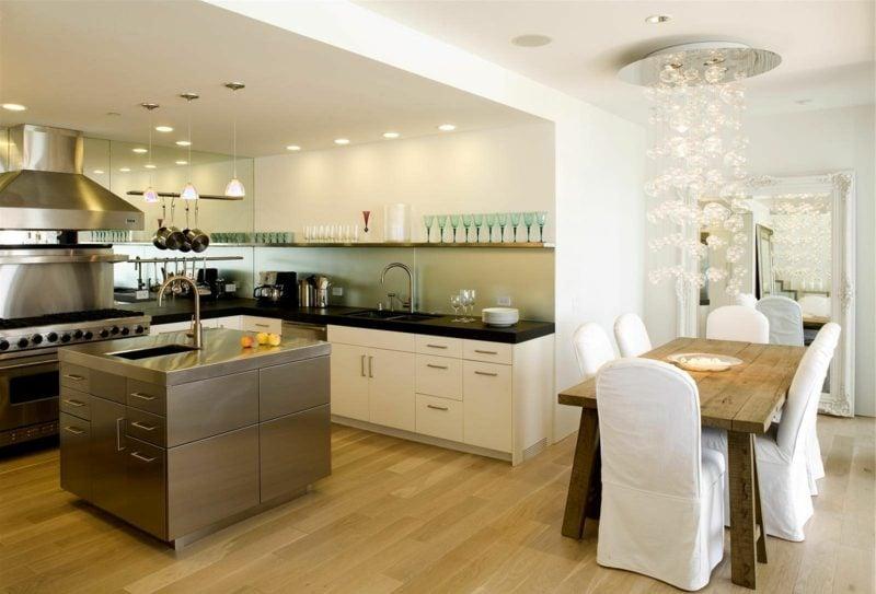 wohnküche mit kochinsel ideen