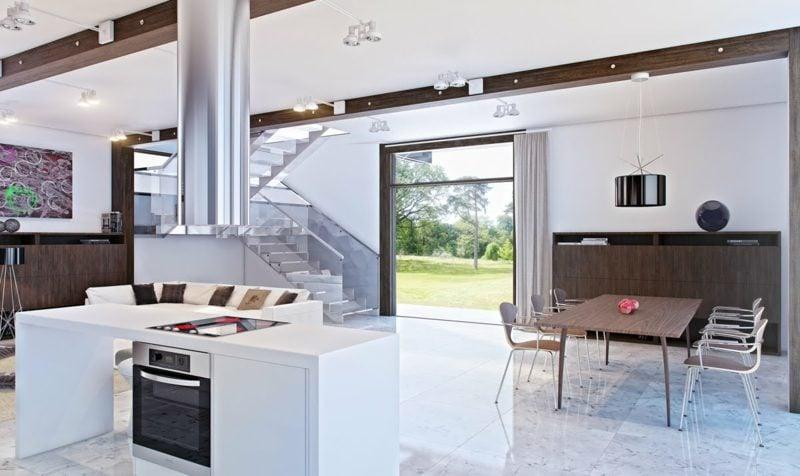 wohnküche ideen küchenplanung