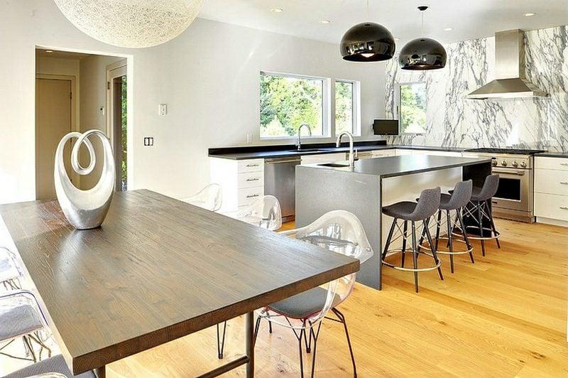 küchenplanung offene küche mit tresen