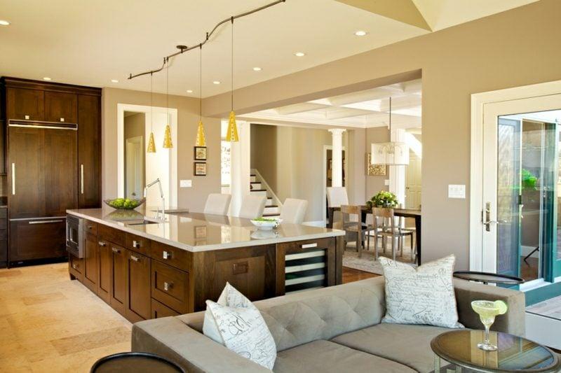 offene wohnküche kücheninsel ideen