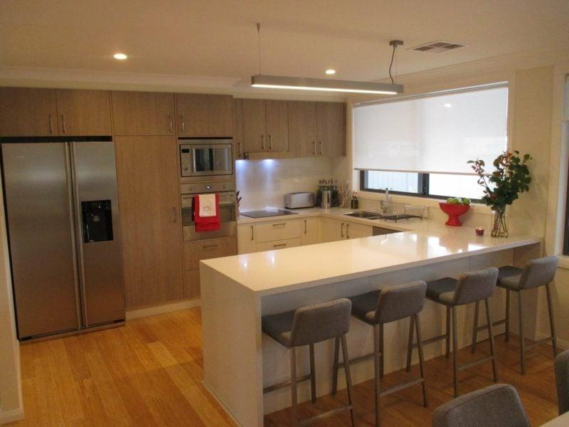 küche mit tresen küchengestaltung