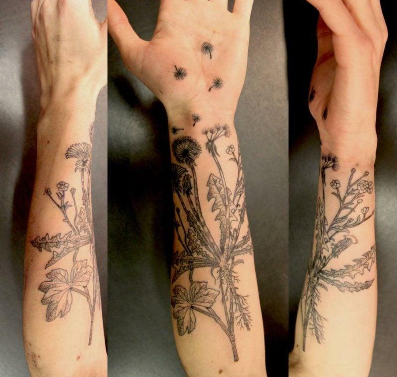 tattoo pusteblume vorlage