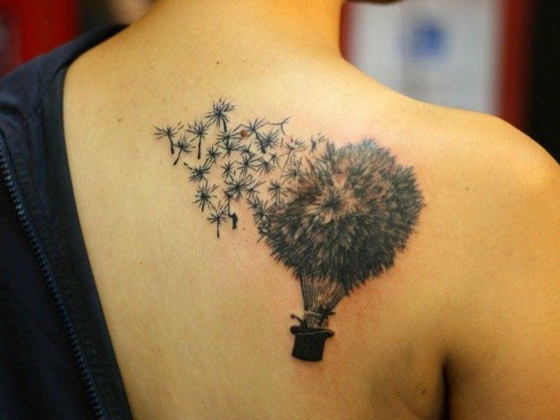 pusteblume tatoo schulter