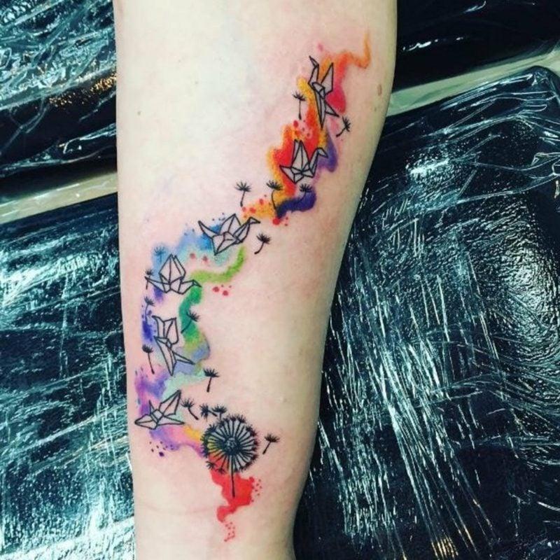 pusteblume gezeichnet tattoo
