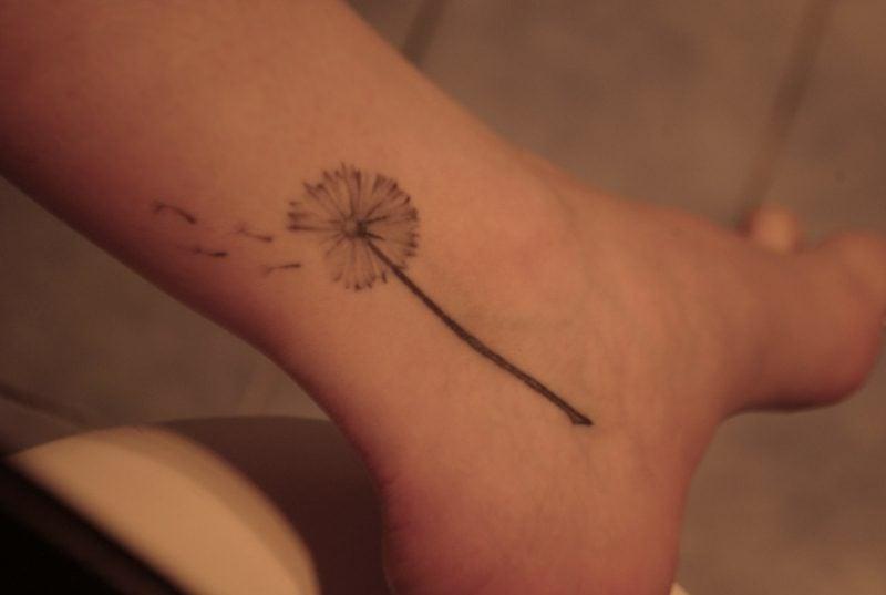 tattoo pusteblume vorlage fuß