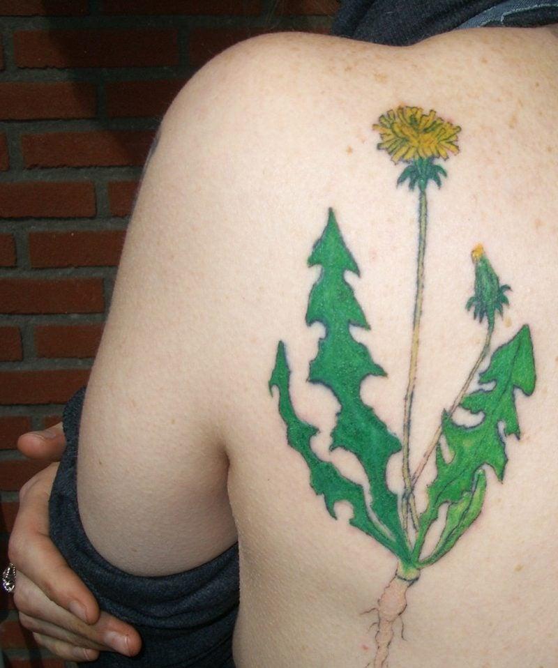tattoo pusteblume bedeutung schulter