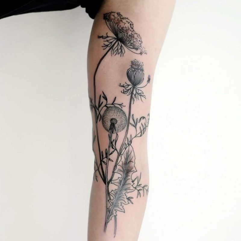 pusteblume tattoo vorlage arm