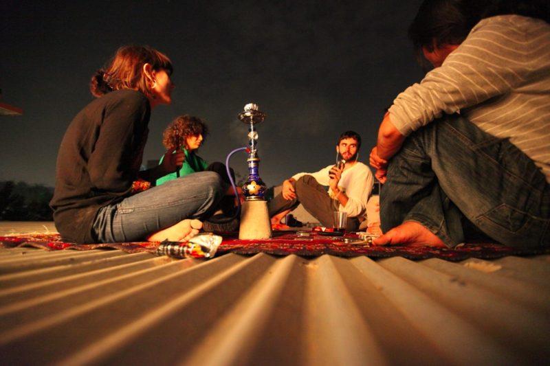 shisha rauchen mit freunden