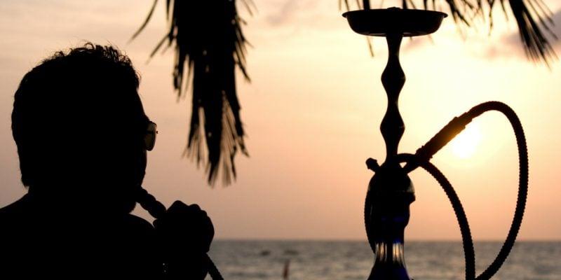 shisha am strand rauchen