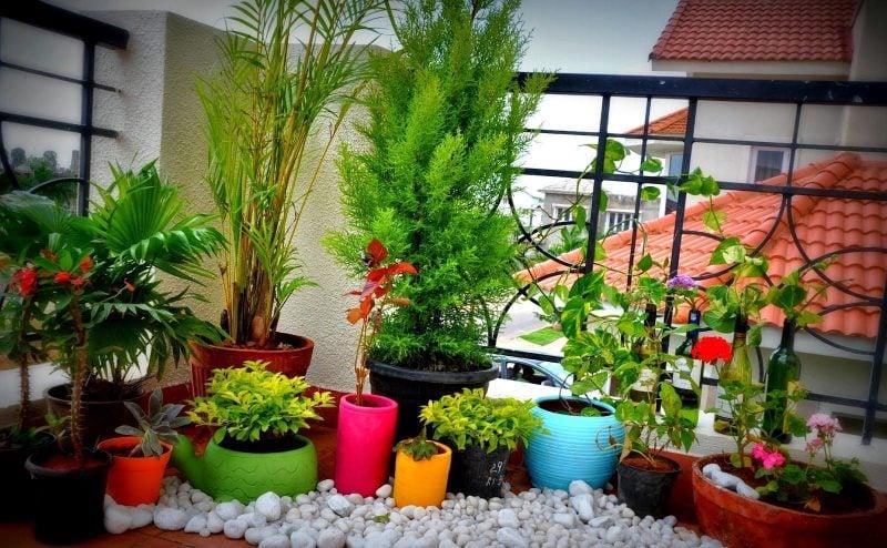 Dekorationen für Terrassen