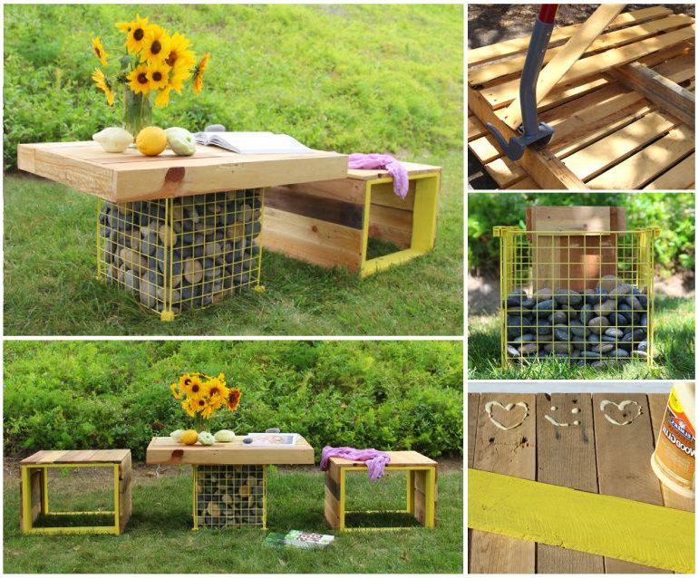 DIY Tisch kleine Gärten gestalten