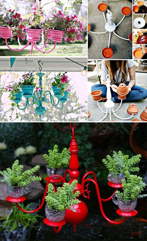 DIY Dekorationen für moderne Terrassen