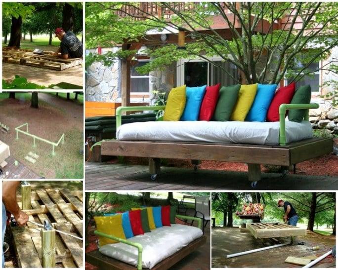 DIY Sofa für Garten Terrasse